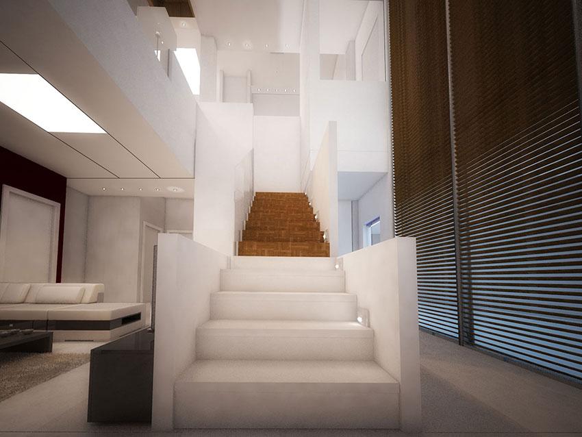 طراحی پله ویلا
